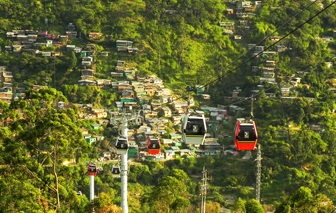 Cable cars in Colombia