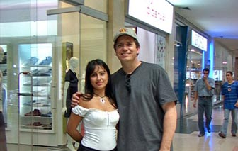 A client enjoying his time with a Barranquilla woman